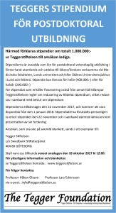 Annons Tegger Stiftelsen 2017